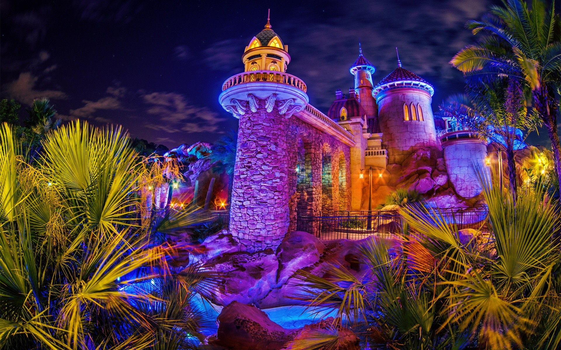 house and comfort travel casino light evening water art outdoors