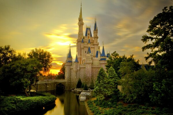 Sunset Over Cinderella Castle