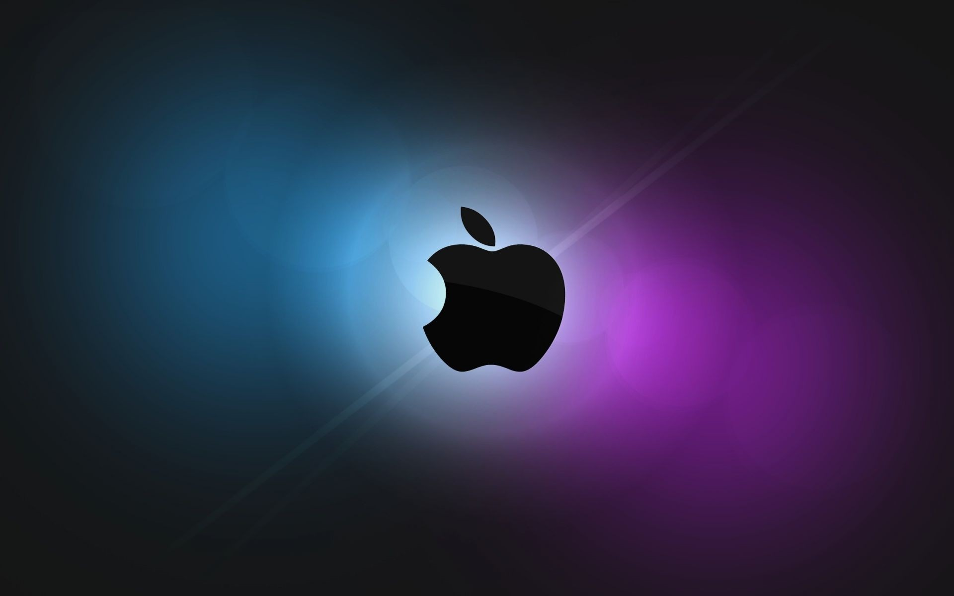 Apple mac os purple blue