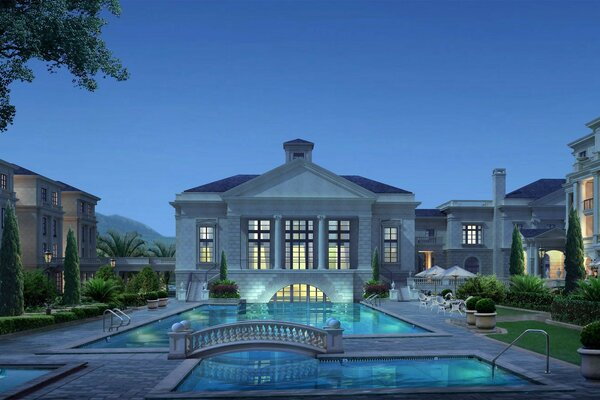 house swimming pool