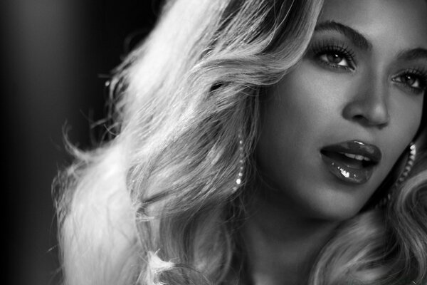 Beyonce Black And White Portrait