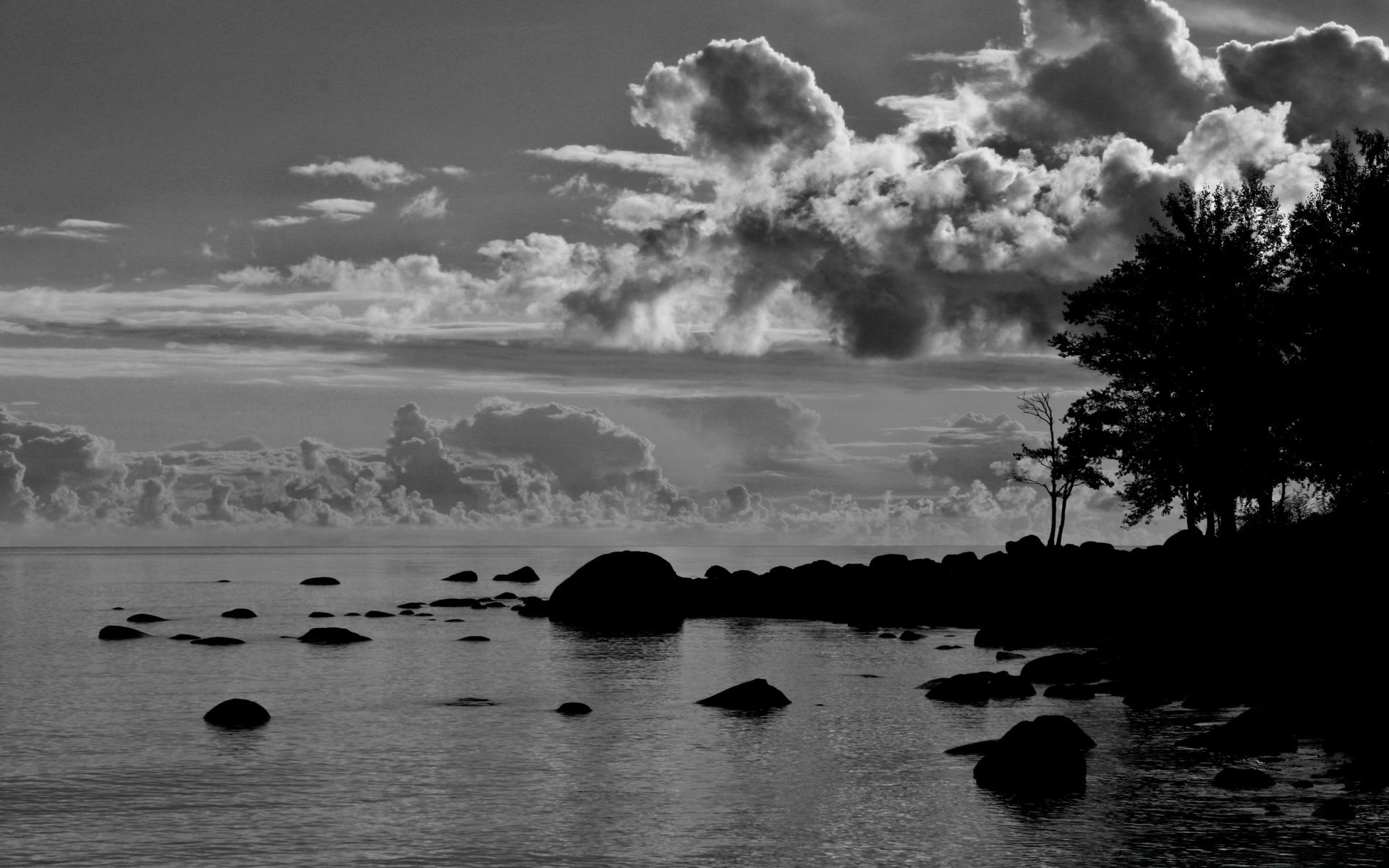 black and white water beach sea monochrome landscape ocean sunset seashore reflection seascape silhouette sky lake sun cloud dawn nature evening