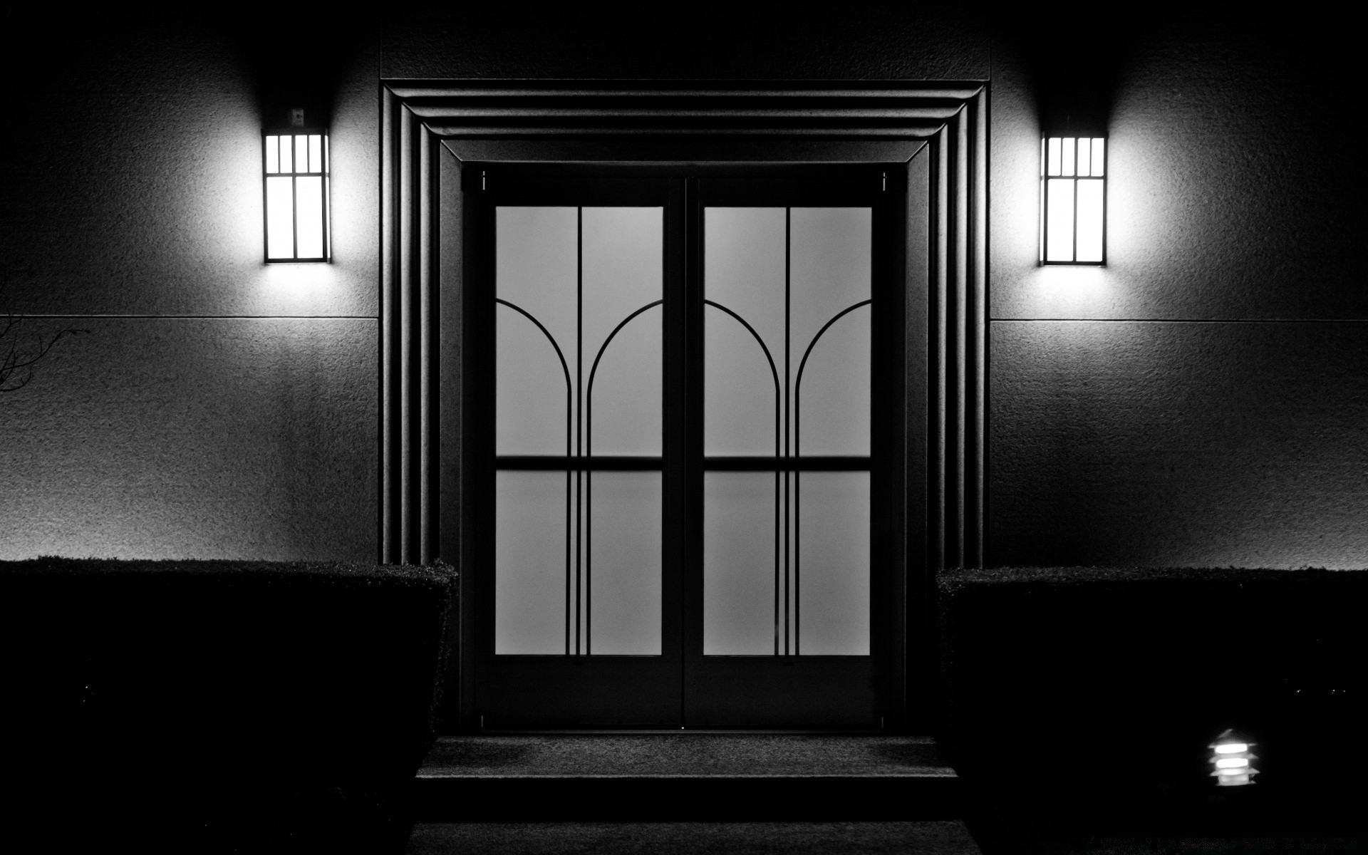 black and white window architecture light indoors house inside room dark door monochrome abandoned family empty wall shadow hallway