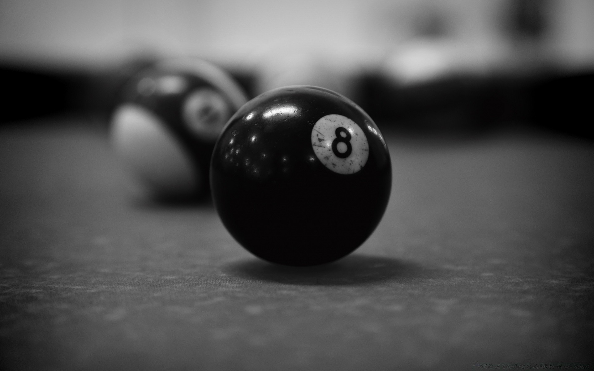 black and white monochrome still life snooker blur dof table pool dark wood recreation