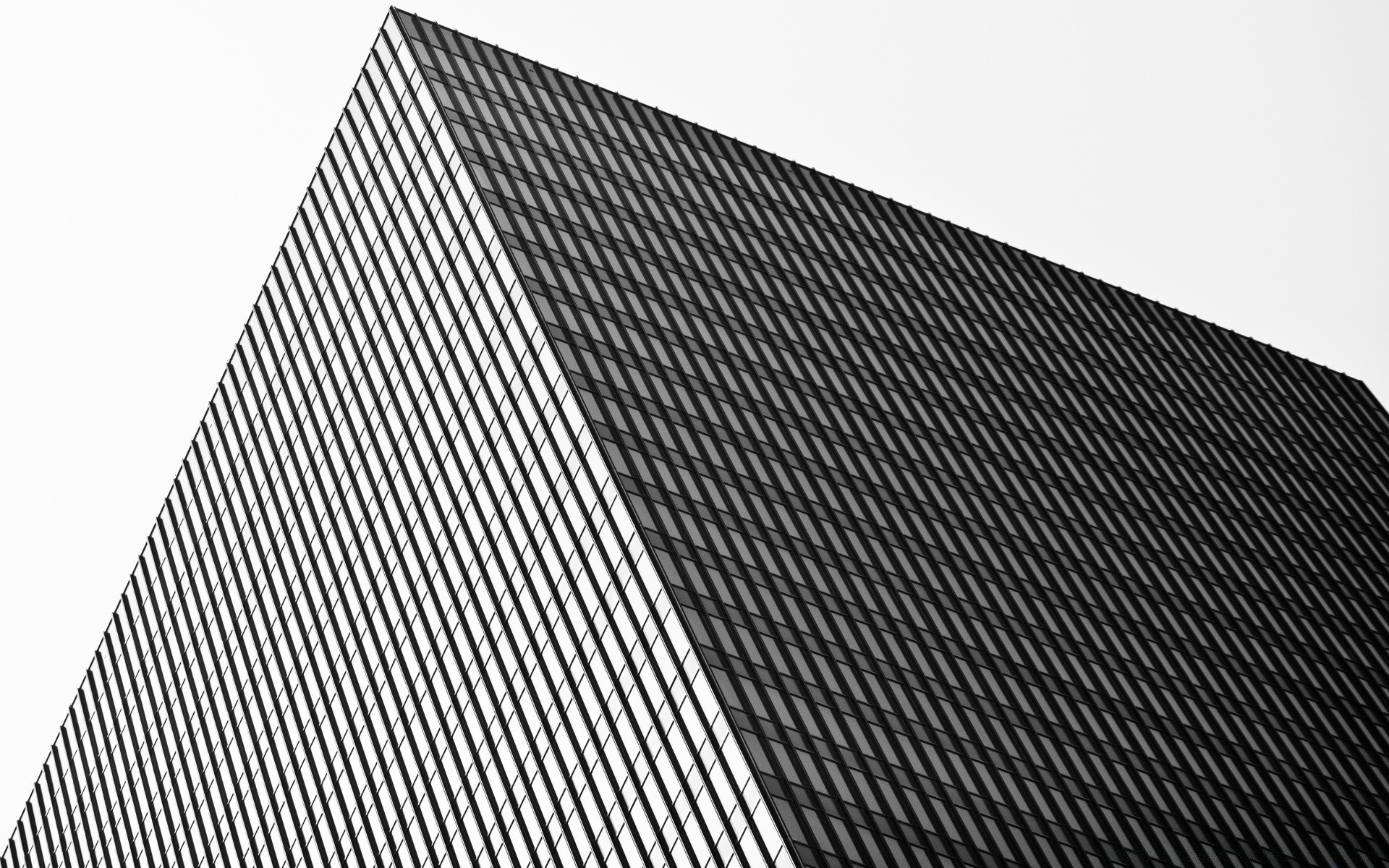 black and white geometric modern contemporary abstract design futuristic pattern desktop diagonal business architecture perspective steel