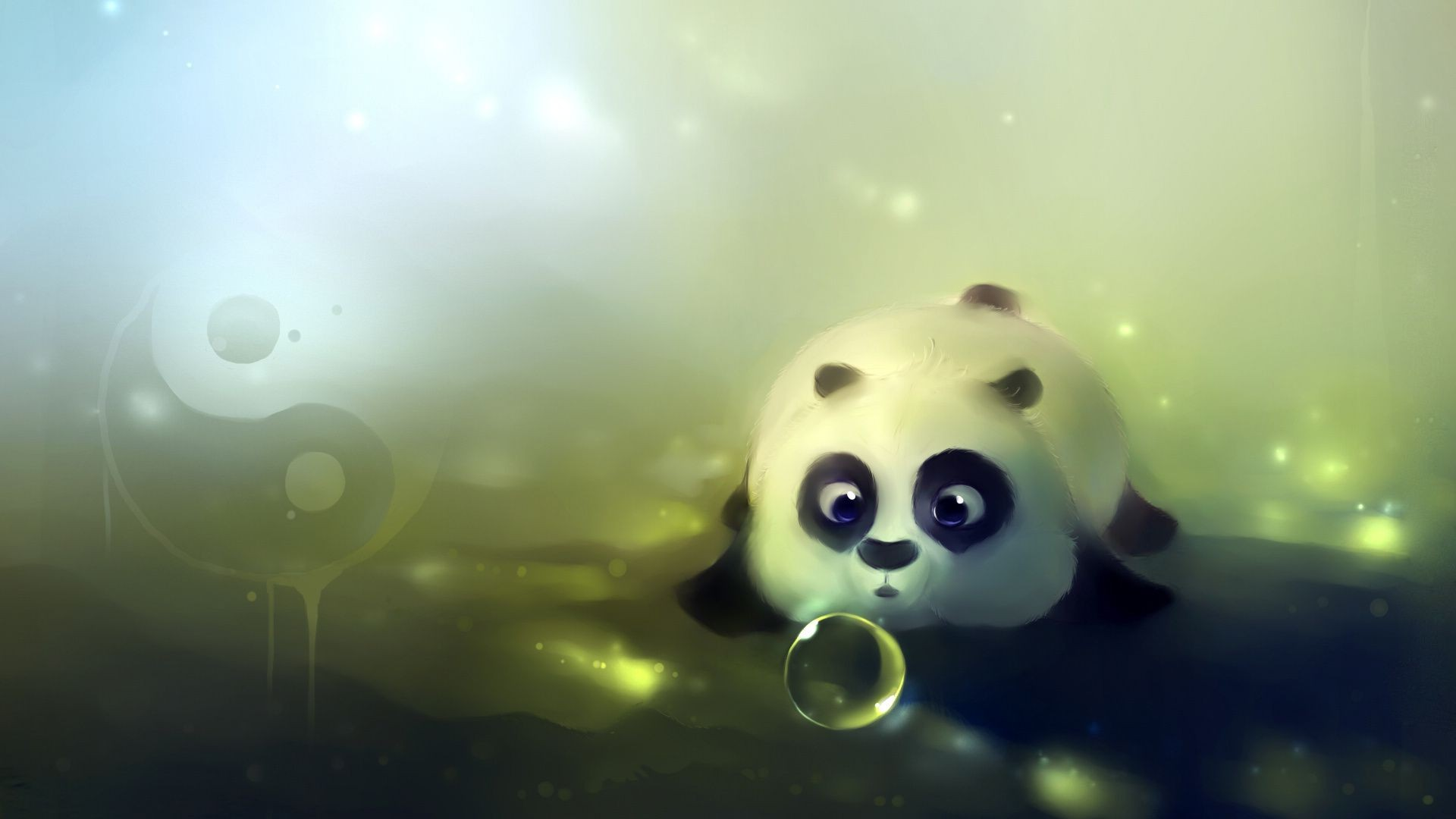 the ball bear bear Yin-Yang bubble Panda
