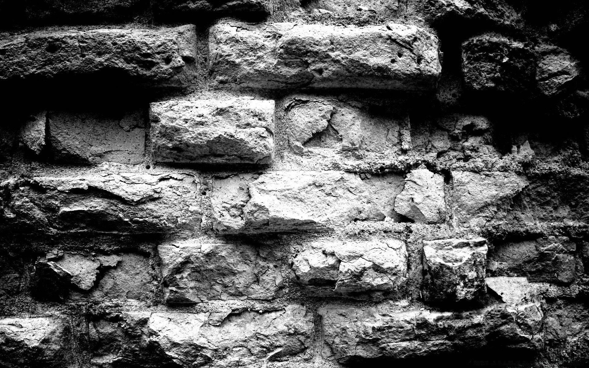 black and white desktop stone wall texture rock rough old pattern fabric concrete abstract construction dirty cement expression surface cube background masonry