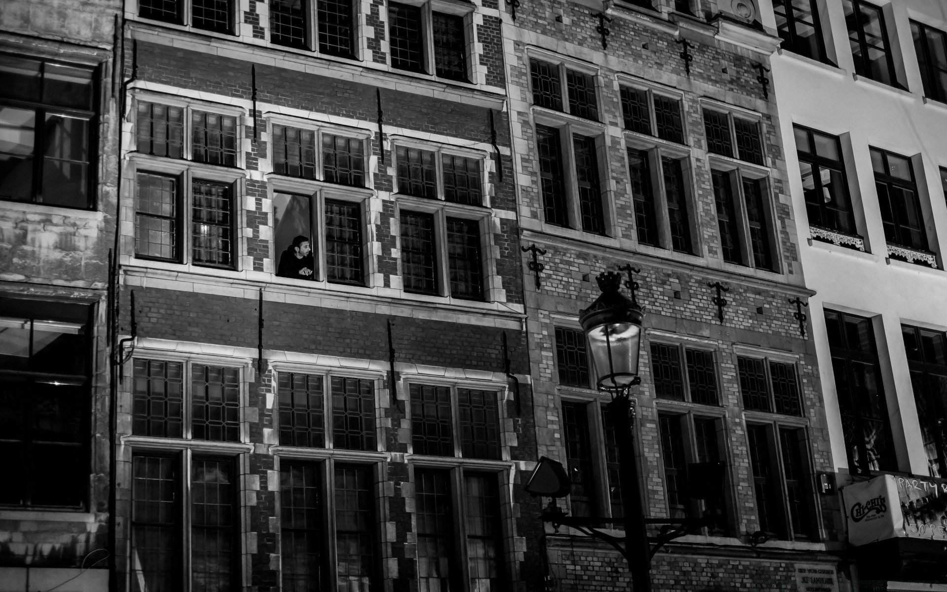Antwerp City Buildings Black And White Desktop Wallpapers For Free