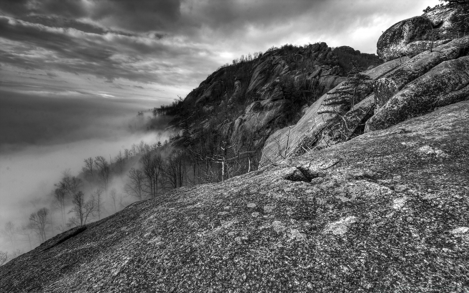 black and white landscape nature mountain sky rock travel cloud outdoors scenic