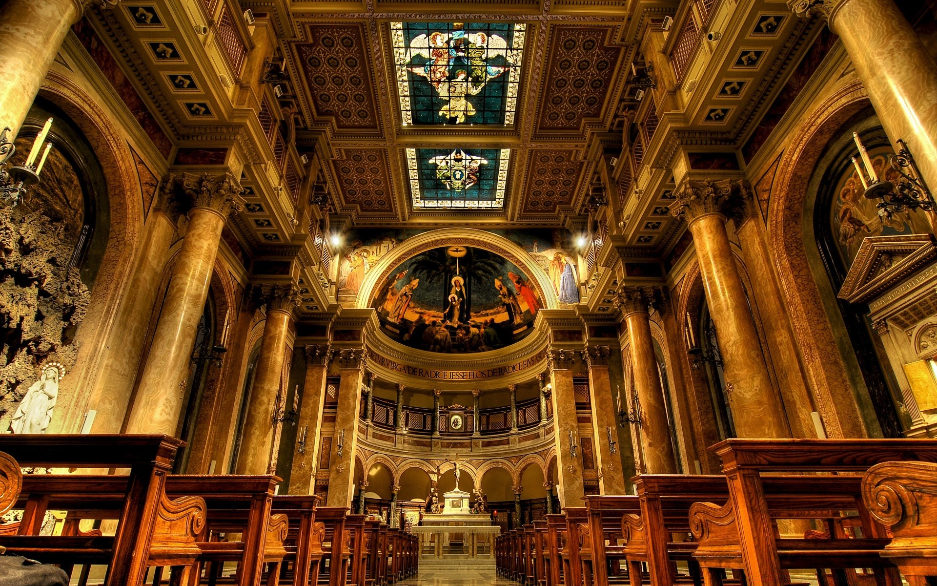 house and comfort church architecture travel religion cathedral art building indoors inside old ceiling sculpture