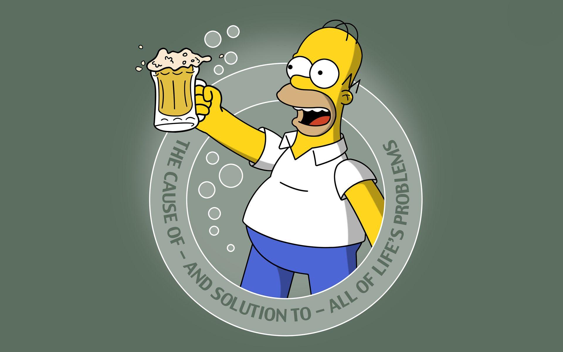 Cartoon the simpsons Homer beer beer simpsons homer Android