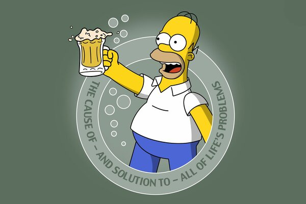 Cartoon the simpsons Homer beer beer simpsons homer