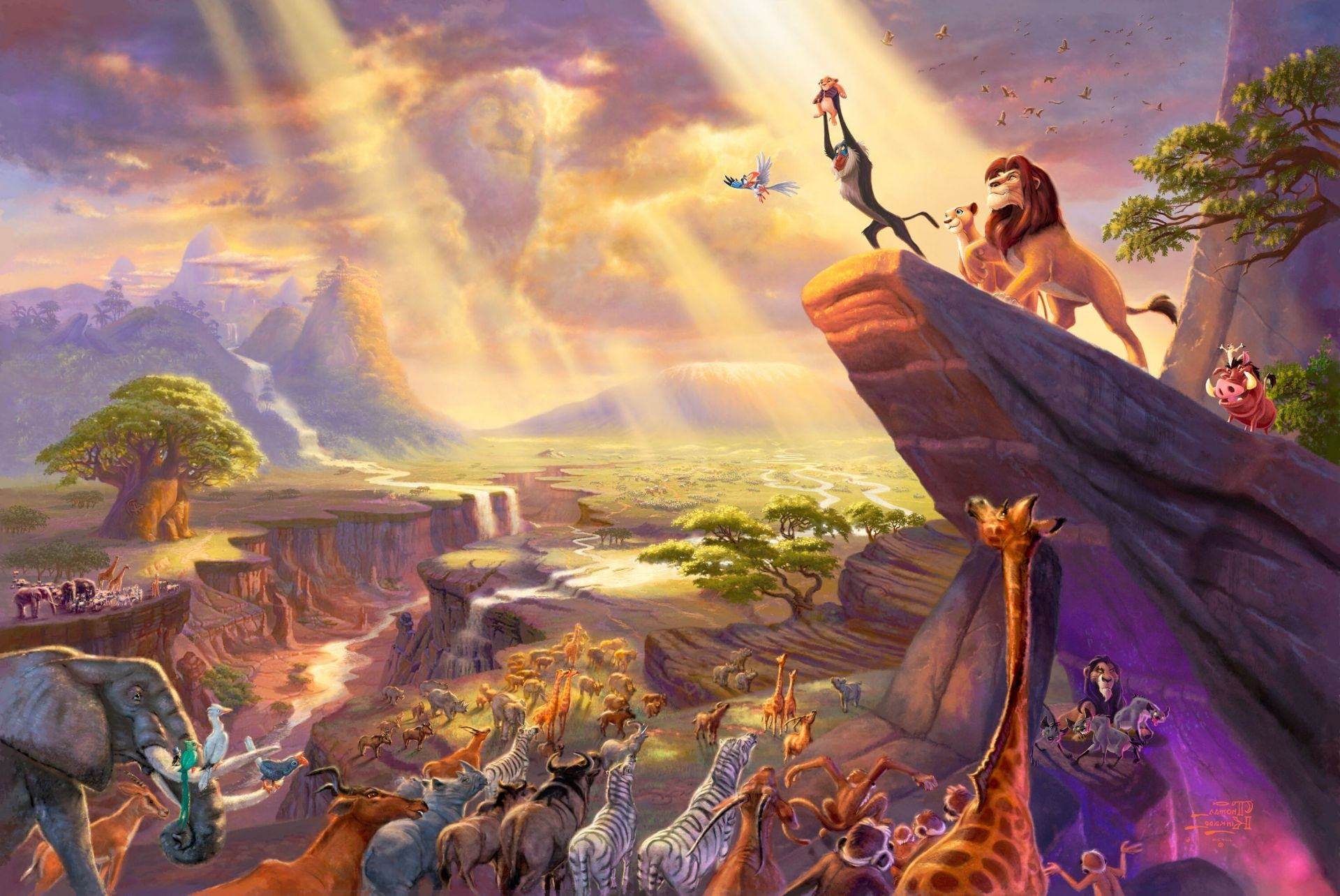 The Lion King Thomas Kinkade The Lion King Painting Paintin Iphone