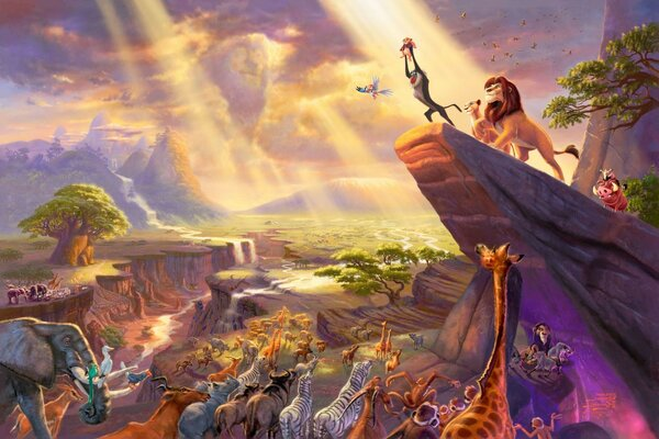 the lion king thomas kinkade The lion king painting paintin