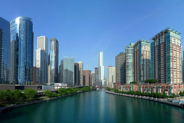 Chicago River Panorama