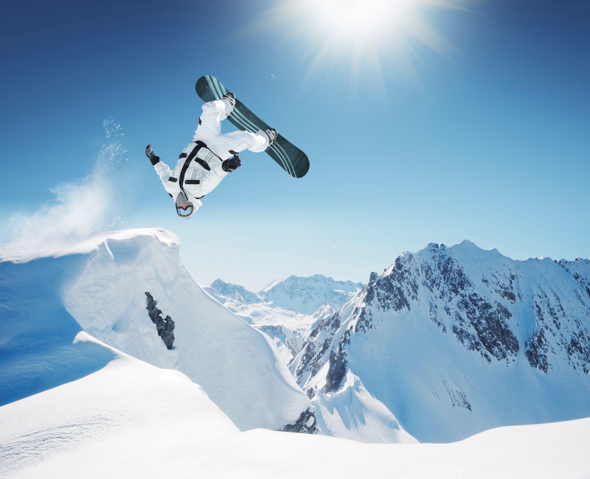сноубордист прыжок горы  № 3300573 загрузить
