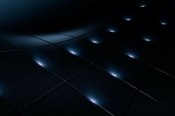 the 3d grid squares light
