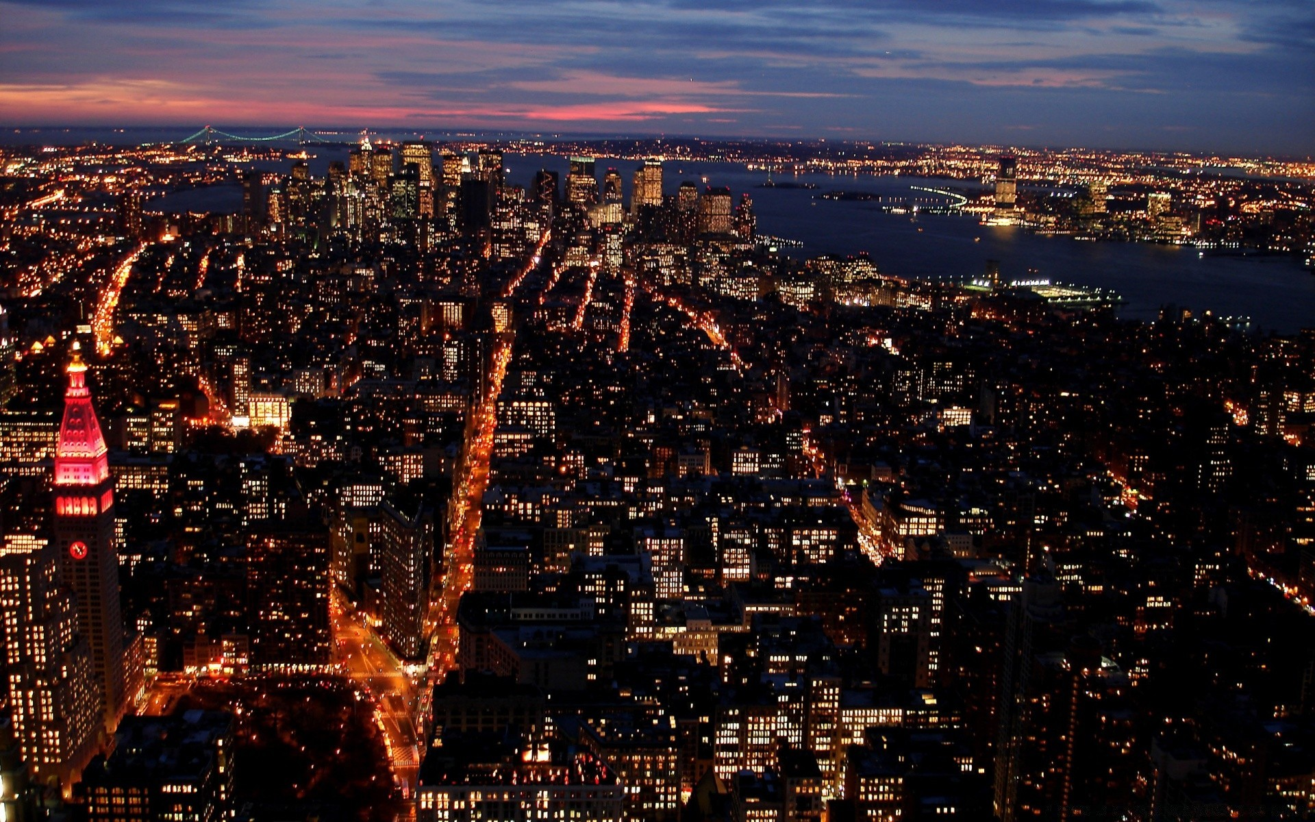 City Lights At Night IPhone Wallpapers For Free