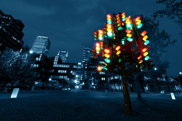 Traffic Light Sculpture