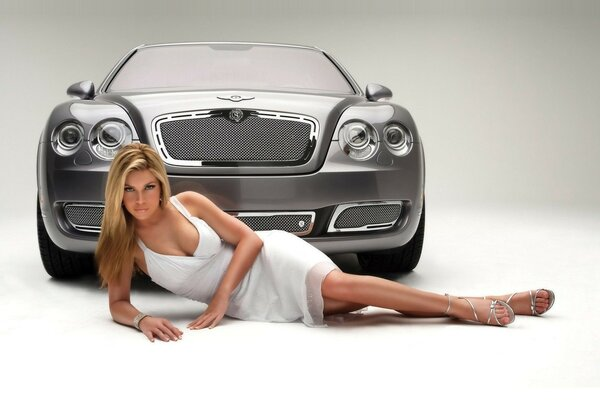 cars Bentley girl