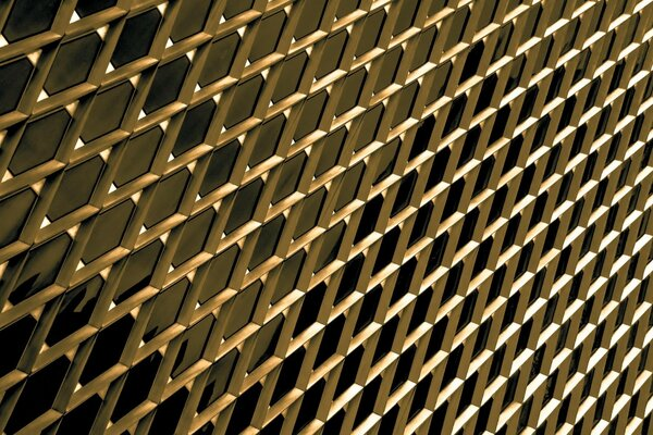 Golden Building Closeup