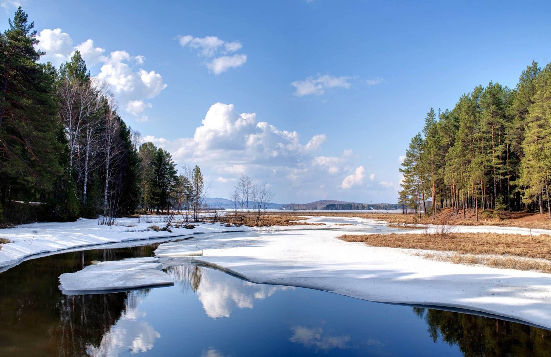 lake water nature tree landscape wood outdoors river travel snow sky winter reflection
