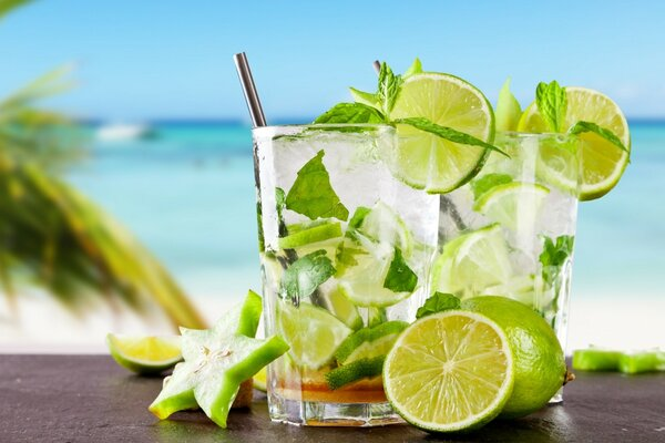 Tropical Cocktail With Lime