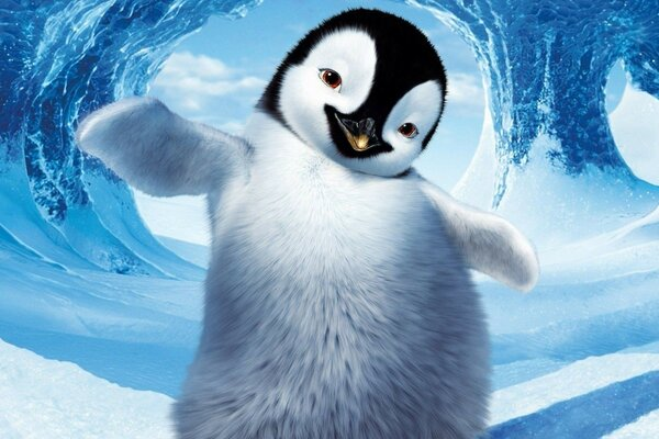 happy feet ice snow Cartoon character penguin