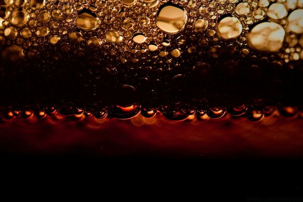 Black Beer Bubbles