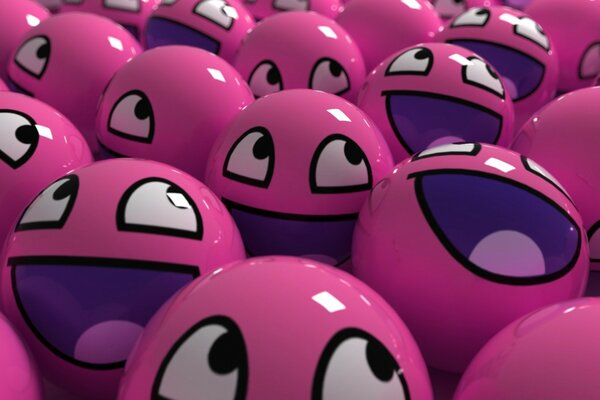 Pink Smiley Faces