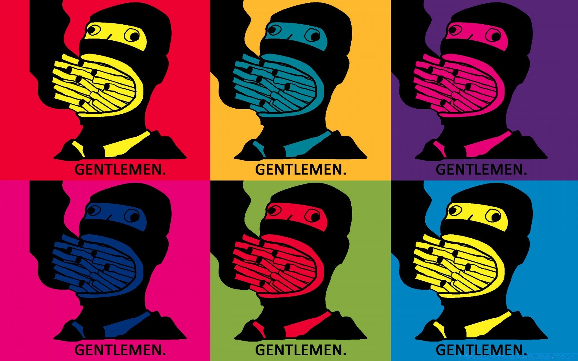 Gentlemen Pop Art Phone Wallpapers