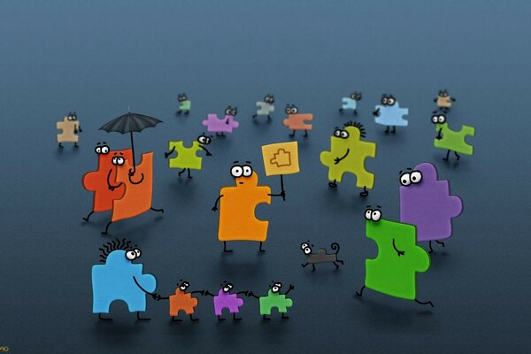 puzzles people umbrella