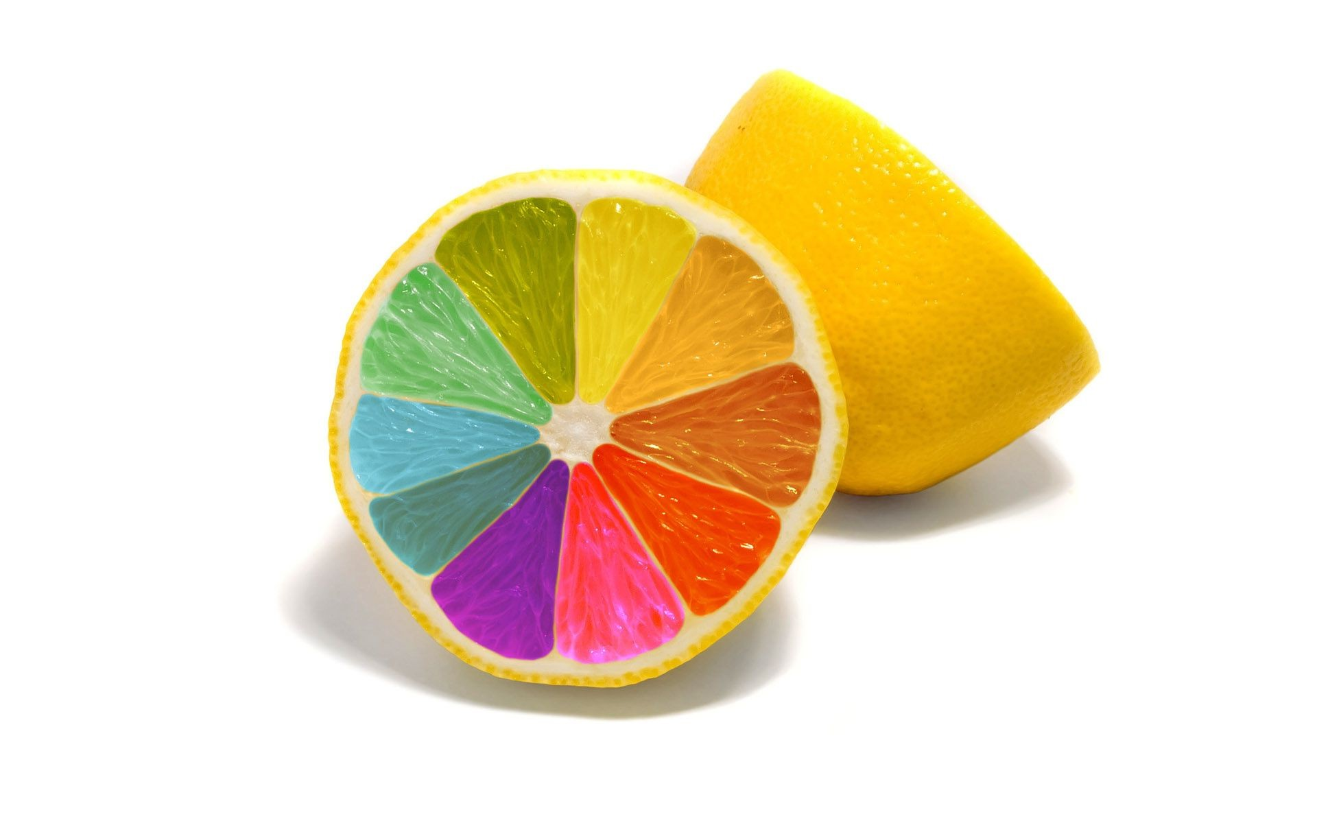 bright colors fruit juicy tropical juice slice food health isolated lemon
