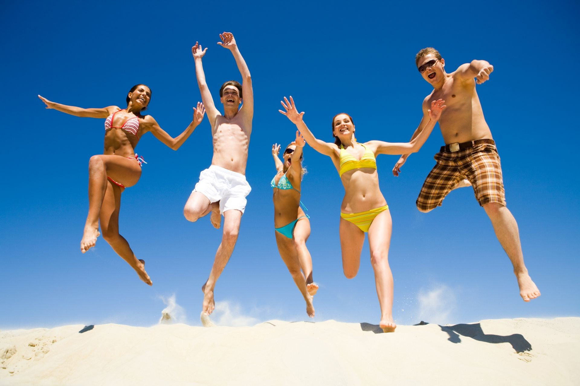 house and comfort fun leisure woman man joy enjoyment motion beach sand summer action adult carefree happiness sky