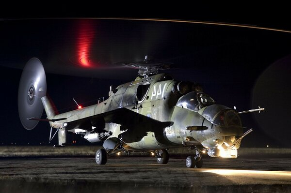 mi-24 aviation Helicopter