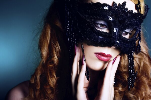 Girl With Fashion Mask