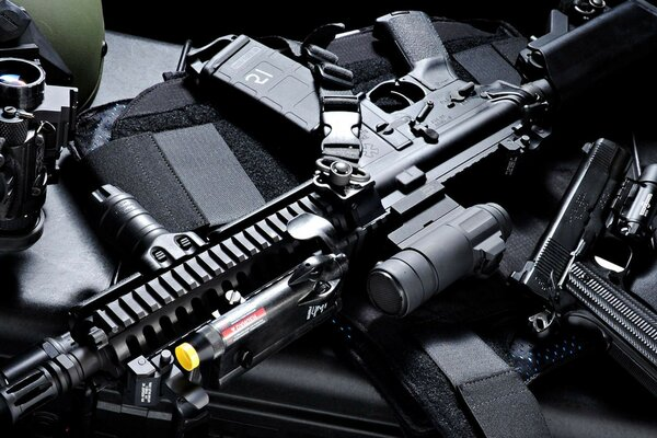 the assault rifle armor Machine gun sight