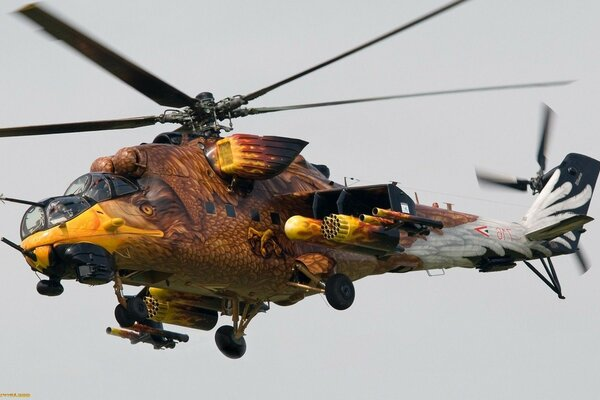 Aviation combat helicopter