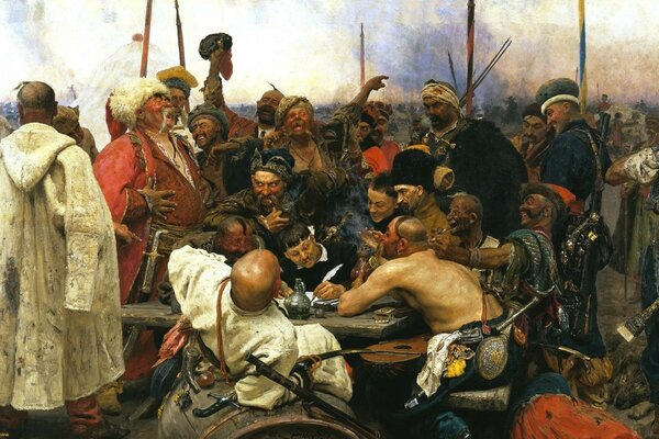 The Cossacks writing Letter to Turkish Khan