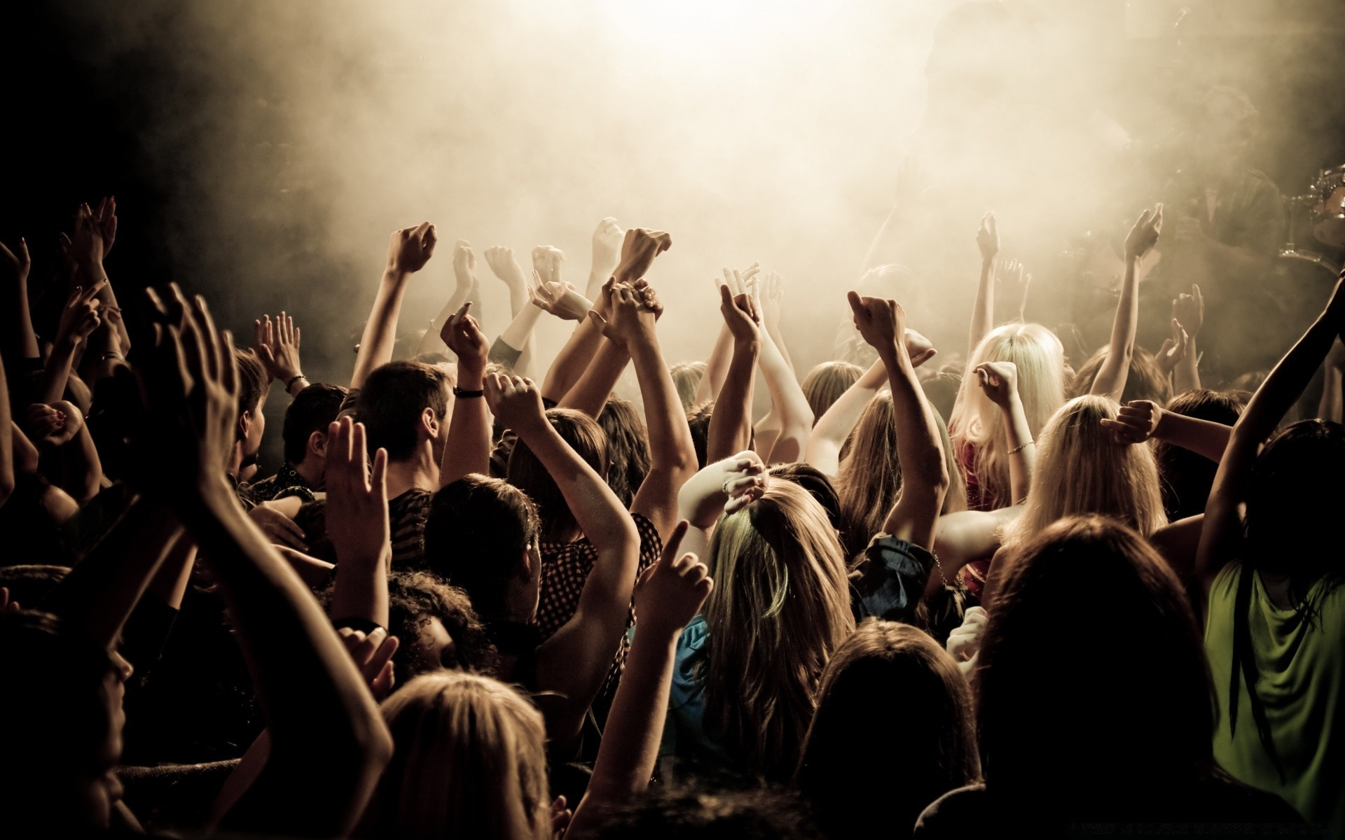 music crowd concert group many audience band performance adult musician woman dancing man child
