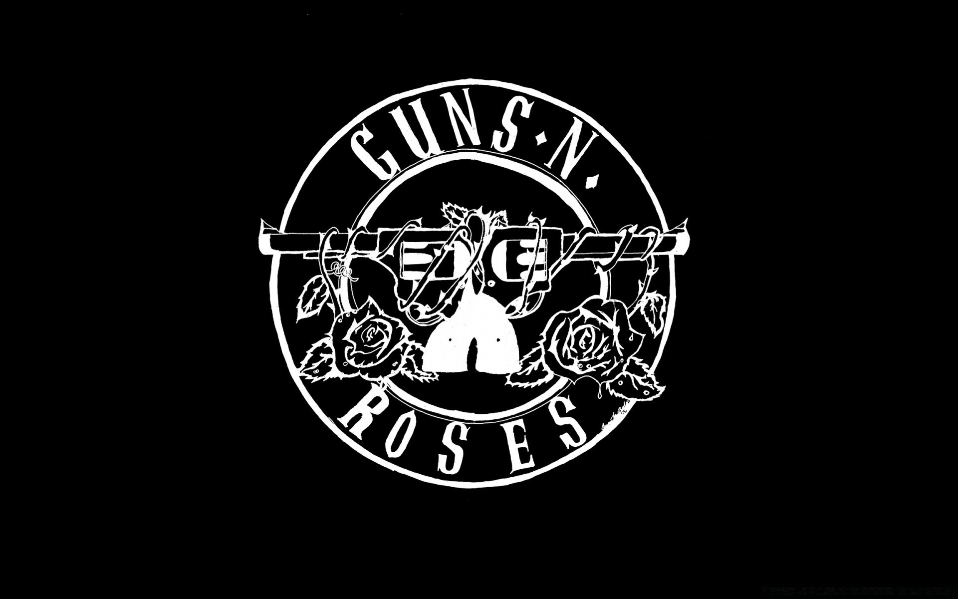 guns 'n' roses logo (hd). iphone wallpapers for free.