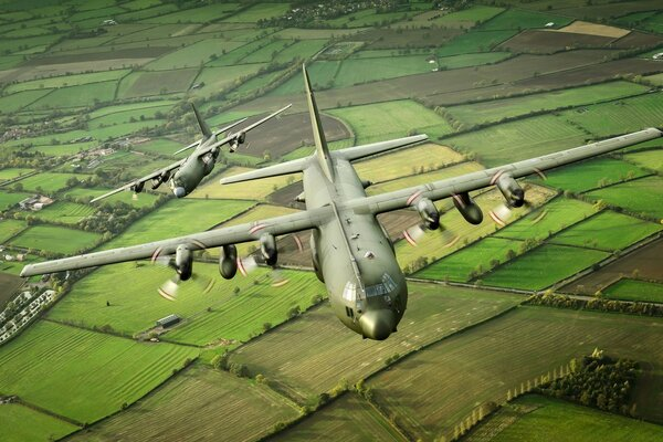 C-130K Hercules Military Transport Aircraft