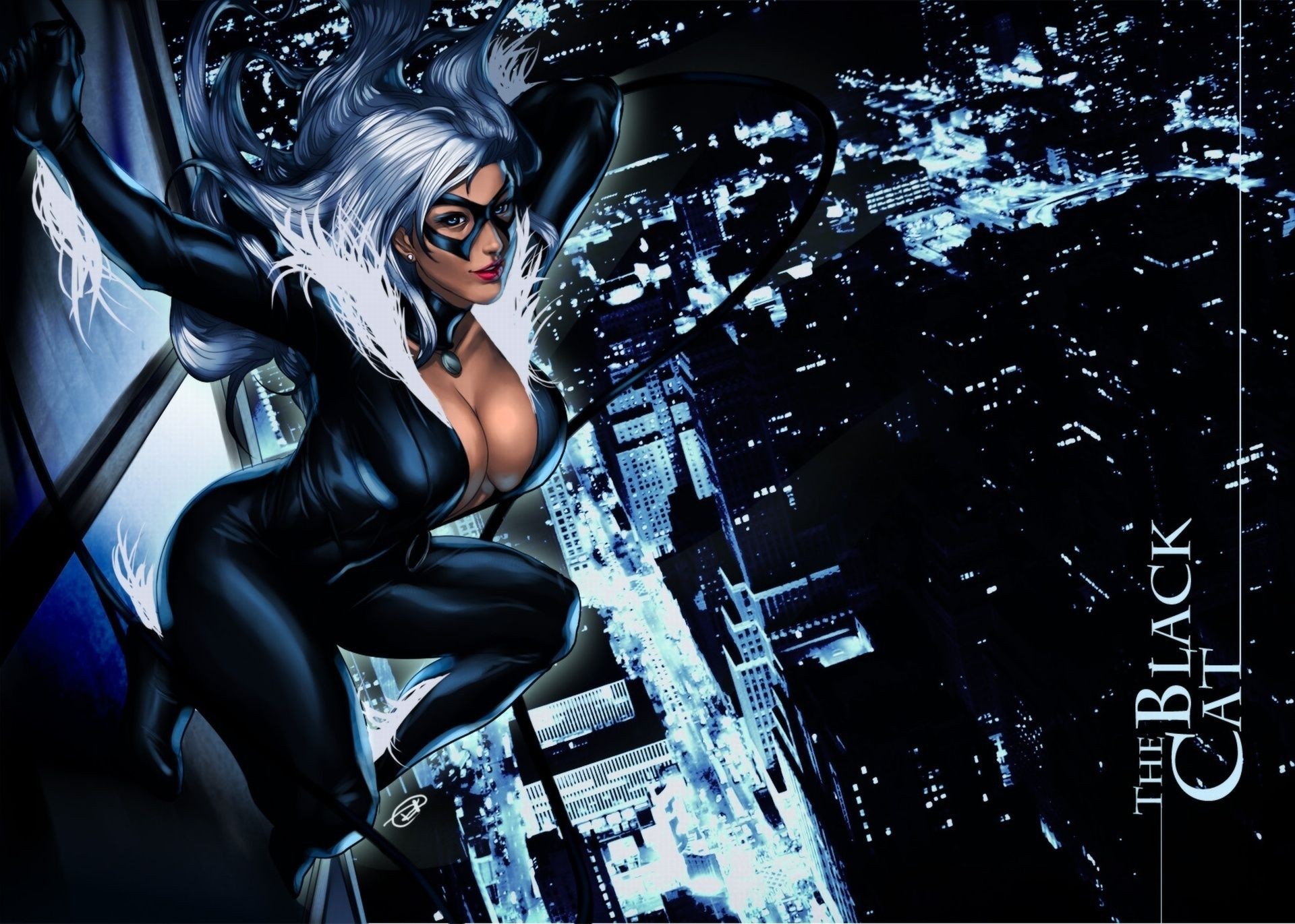 black cat (felicia hardy marvel comics. android wallpapers for free.