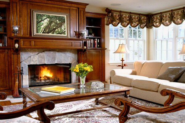 room sofa interior fireplace House furniture comfort style