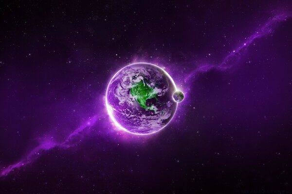 Abstract Purple Earth