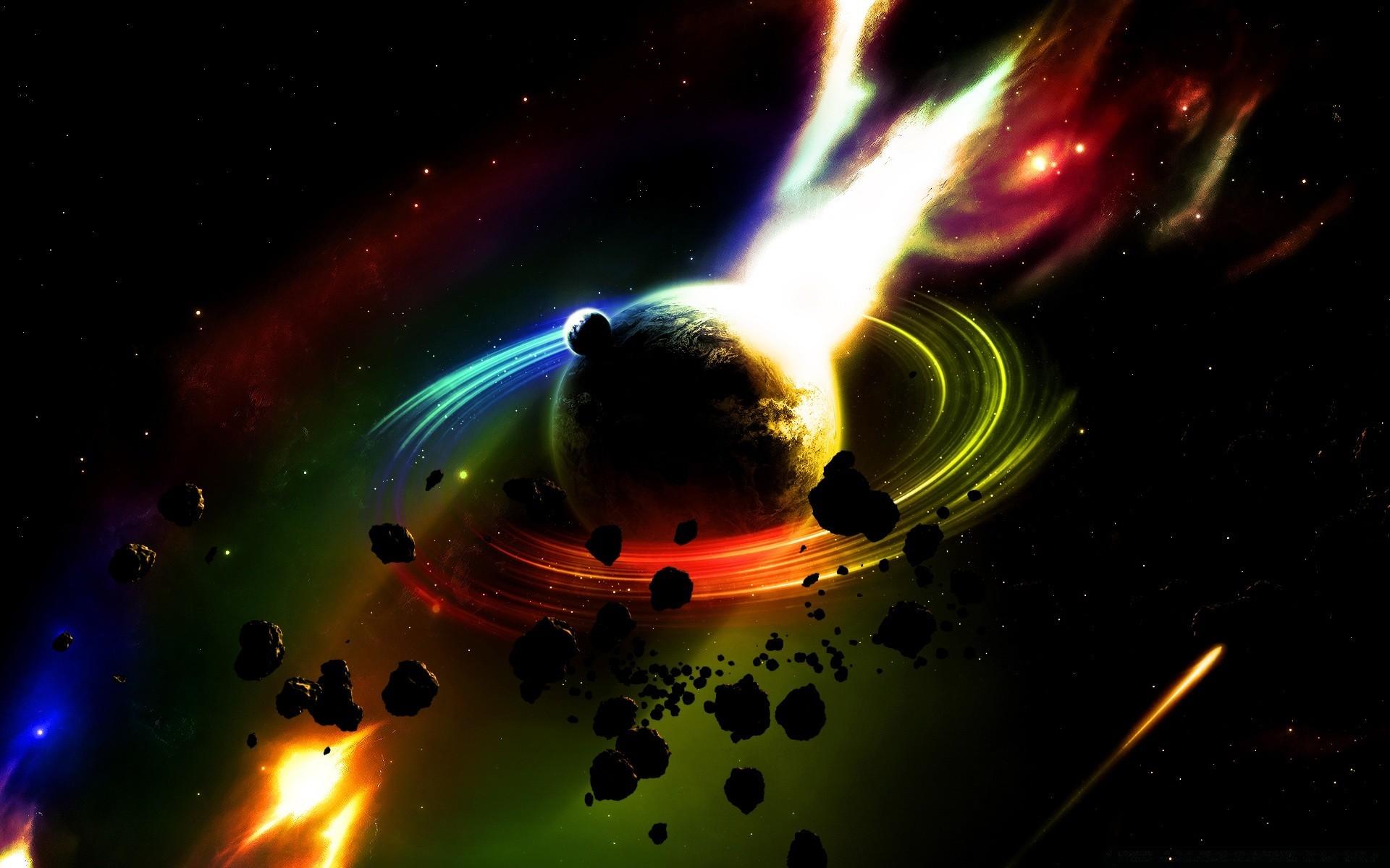 Обои космос планета метеор картинки на рабочий стол на тему Космос - скачать бесплатно