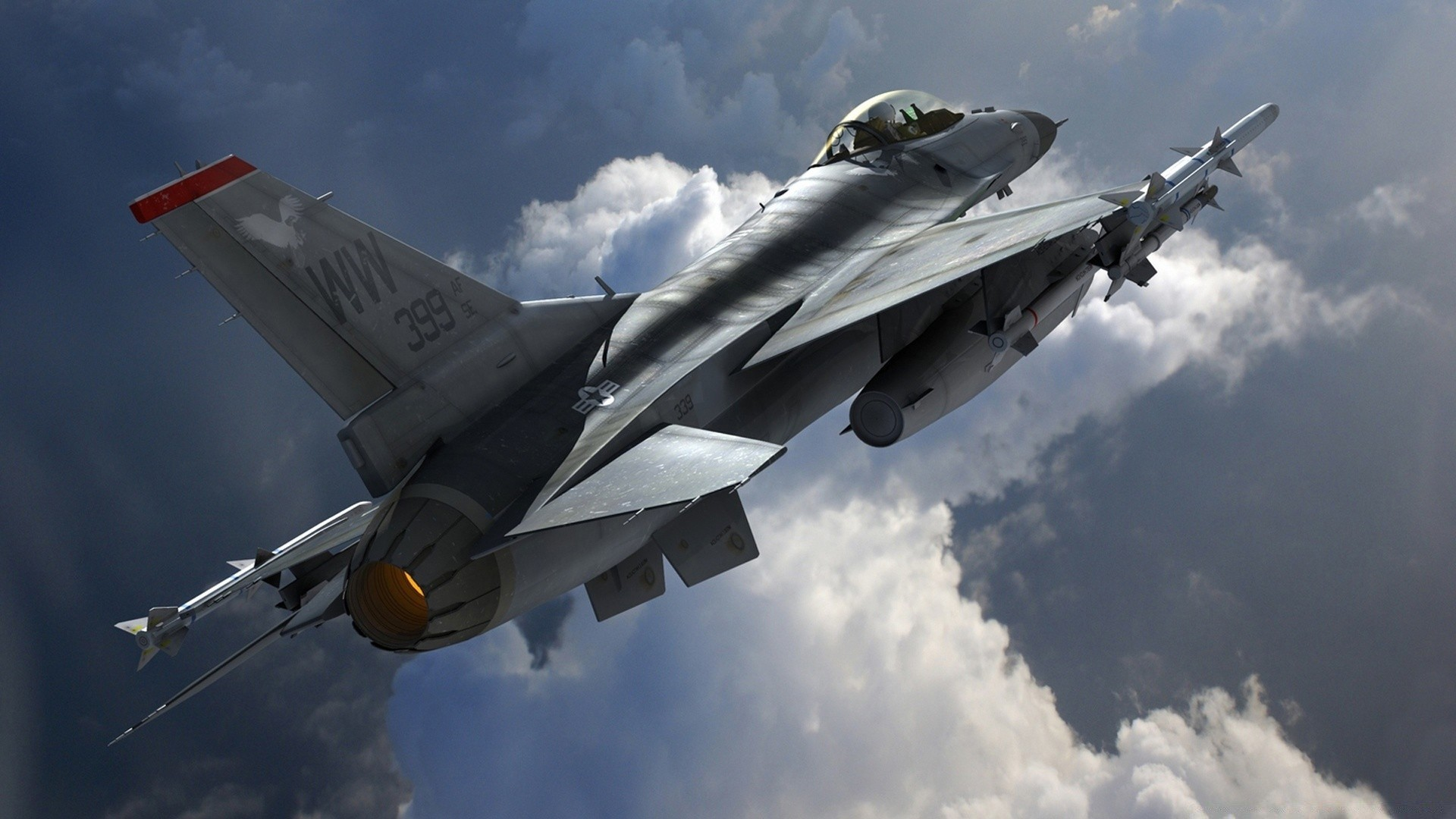 Multirole Fighter Aircraft General Dynamics F-16 Fighting