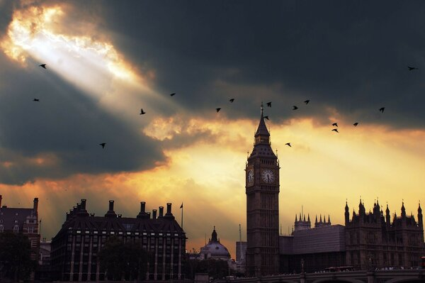 london big ben sunset London zakat big Ben