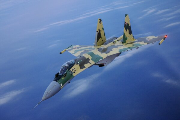 SU-35 Fighter In Air