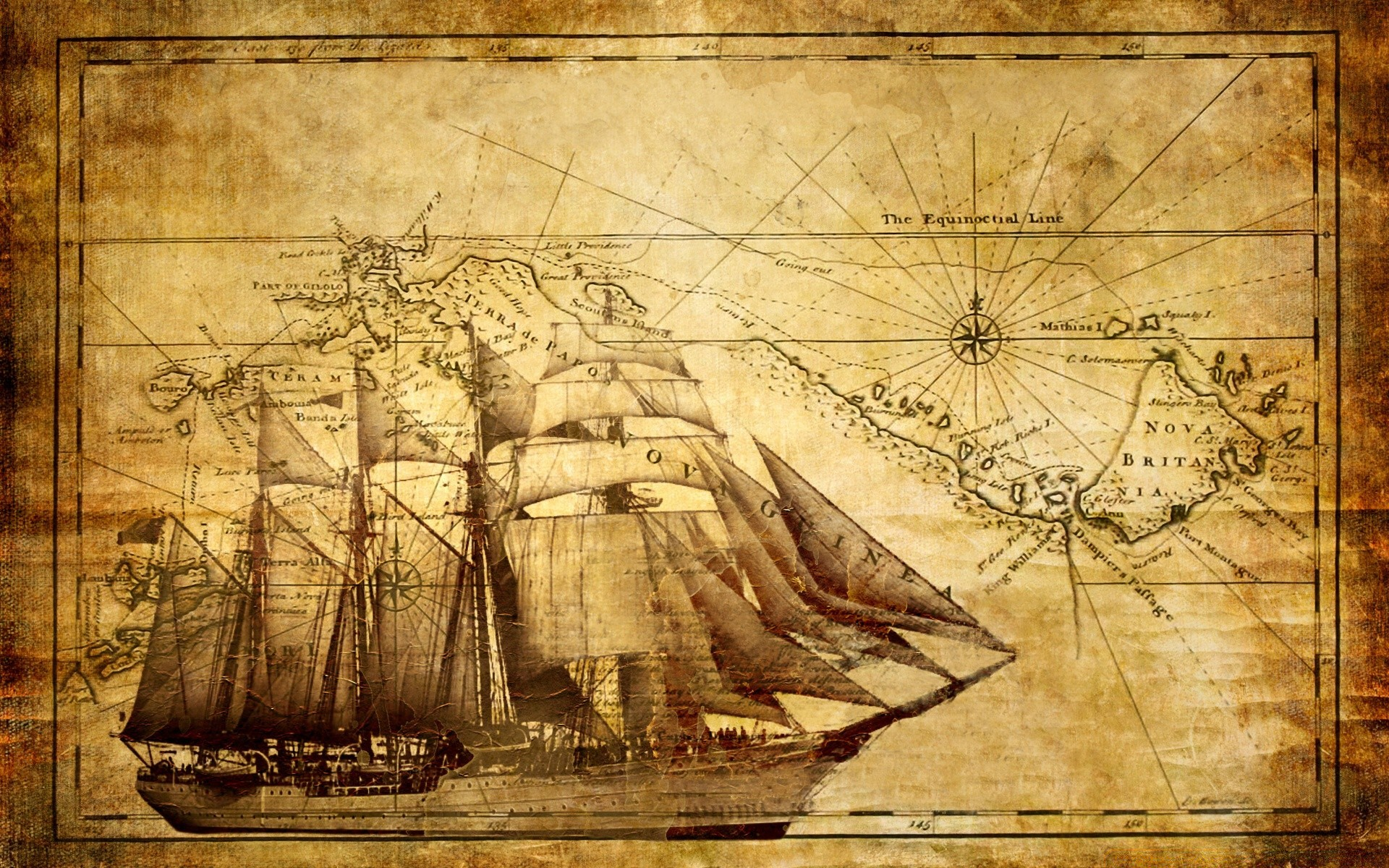 vintage illustration old paper art retro antique painting parchment desktop print picture frame dirty exploration ancient design ship watercraft manuscript texture